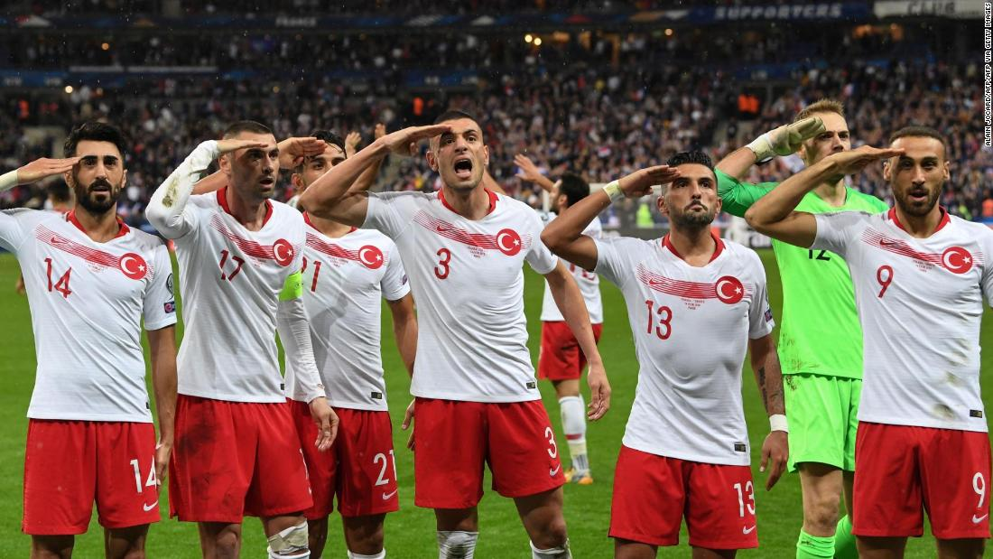 After Turkish Football Team Repeat Military Salute French Politicians Call For Action Cnn
