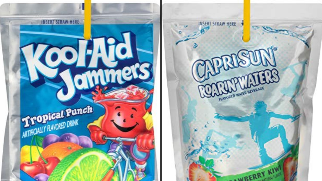 These two drinks have 0% juice but are marketed to kids on children