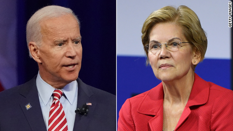 The difference in eligibility between Elizabeth Warren and Joe Biden