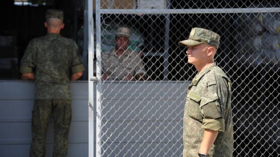 New Russian soldiers arrive to Latakia in Hmeimim, Syria, on September 26, 2019.