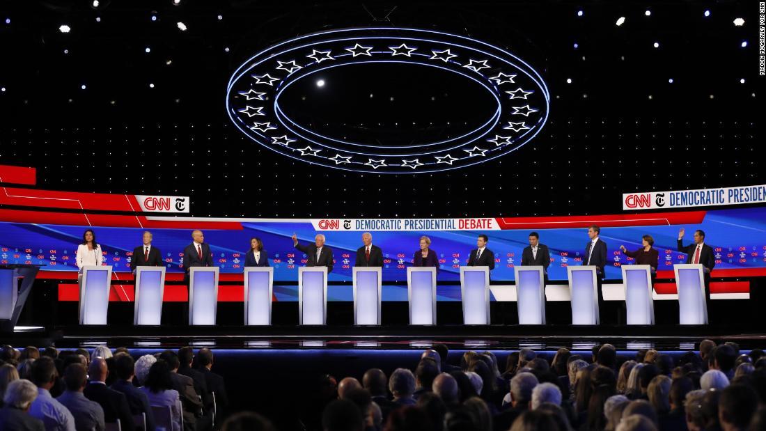Watch the full CNN/New York Times Democratic debate