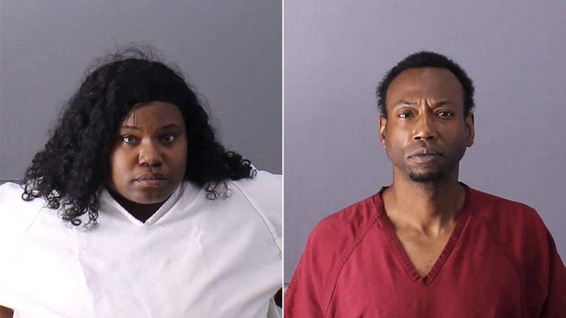 Derrick Irisha Brown, left, and Patrick Stallworth have been questioned in the disappearance of a 3-year-old girl in Alabama.