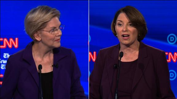 klobuchar warren split debate