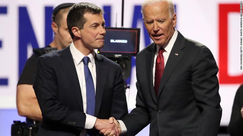Risultato immagini per Biden e Buttigieg immagini