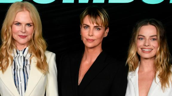 "Nicole Kidman, Charlize Theron, Margot Robbie attend a special screening of Lionsgates' ""Bombshell"" at Pacific Design Center on October 13, 2019 in West Hollywood, California."
