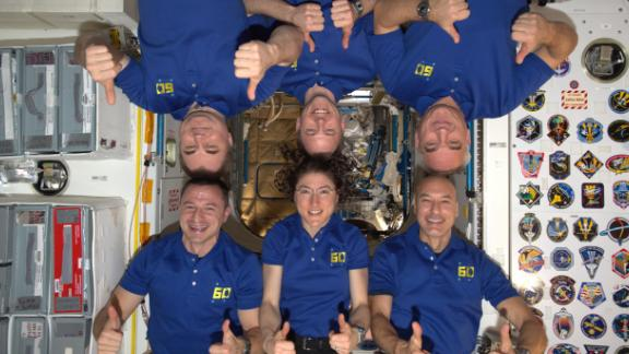 The International Space Station crew celebrated European Day of Languages on September 26, recognizing the three different languages spoken on board. Each astronaut speaks at least two!