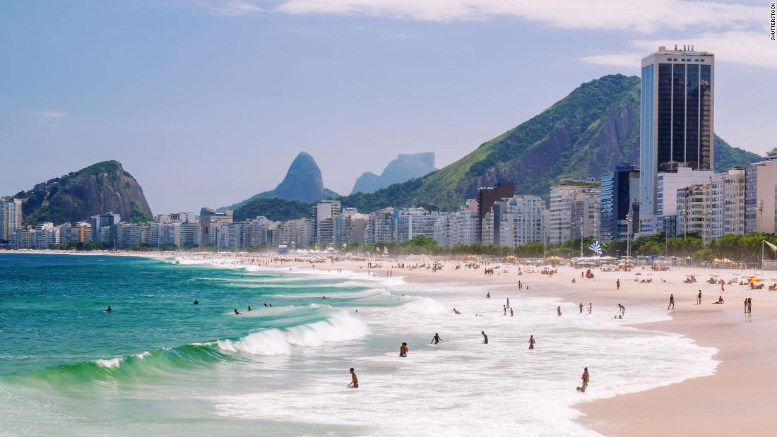 <strong>Copacabana Beach, Rio de Janeiro. </strong>This iconic Brazilian beach has been hit hard by a series of extreme storm surge events that have damaged the beach and sent sand spilling into surrounding streets.