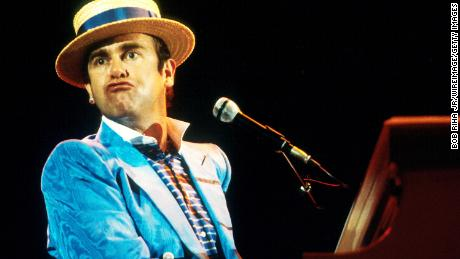 Elton John in concert in Los Angeles in an undated photo.