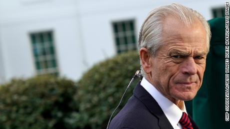 White House National Trade Council Director Peter Navarro was interviewed by the Fox Business Network outside the White House on October 08 in Washington.