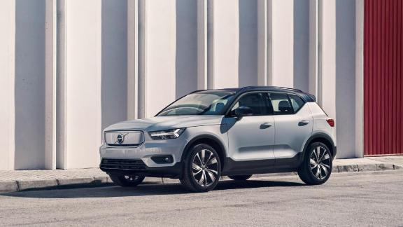 Since it doesn't have an internal combustion engine, the Volvo XC40 recharge has storage space under the hood.