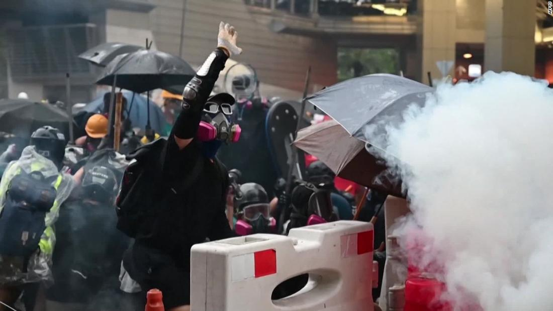 Hong Kong chief executive Carrie Lam defends police use of force