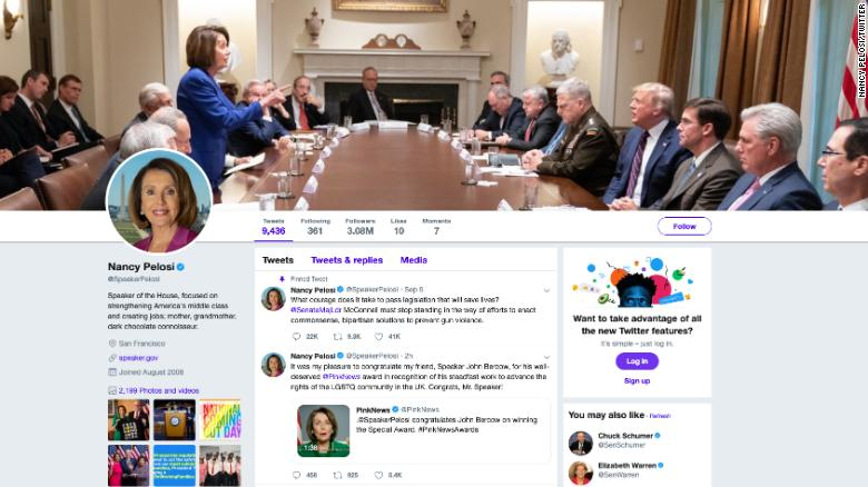 Trump Tweeted A Photo Attacking Nancy Pelosi She Made It