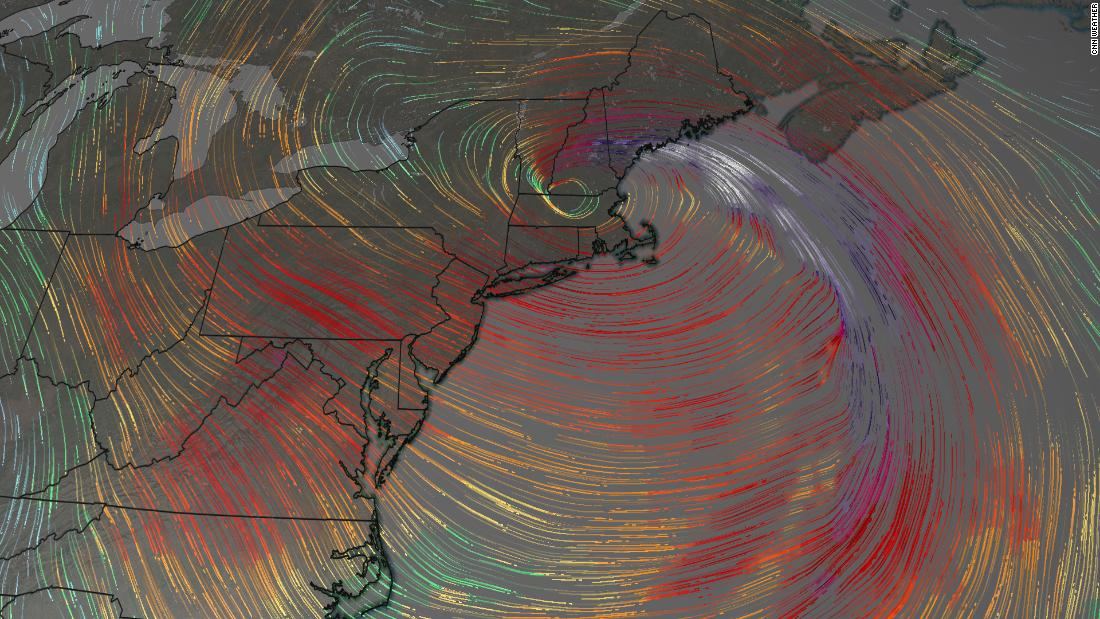 A bomb cyclone is knocking out power and disrupting travel in the Northeast