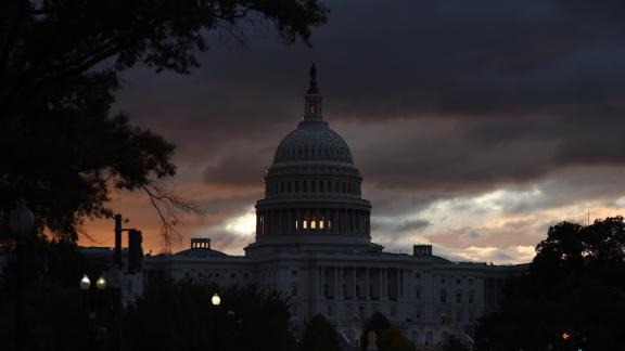 The US Capitol  is seen early in the morning on October 17, 2019 in Washington, DC.