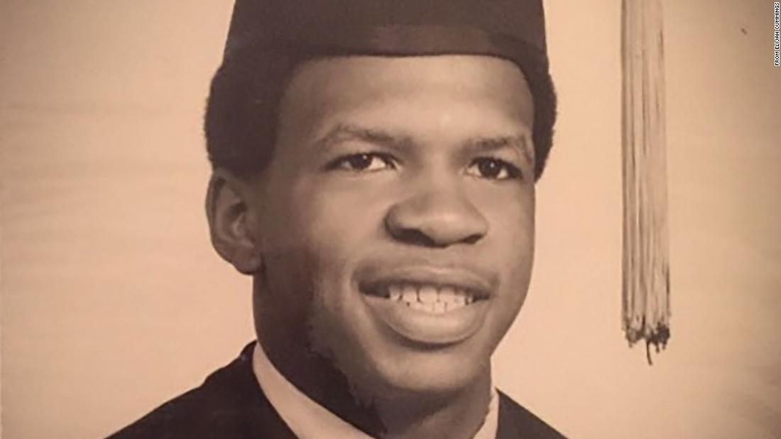 Cummings is seen in a yearbook photo from his senior year of high school. He graduated in 1969.
