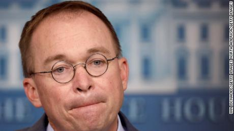 WASHINGTON, DC - OCTOBER 17: Acting White House Chief of Staff Mick Mulvaney answers questions during a briefing at the White House October 17, 2019 in Washington, DC. Mulvaney answered a range of questions relating to the issues surrounding the impeachment inquiry of U.S. President Donald Trump, and other issues during the briefing. (Photo by Win McNamee/Getty Images)