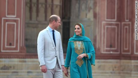 William and Kate also visited the historic Badshahi Mosque on Thursday.