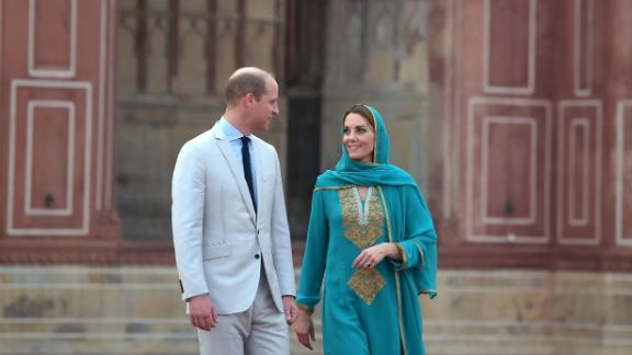William and Kate also visited the historical Badshahi Mosque on Thursday.