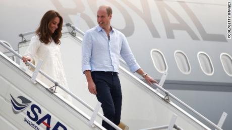 Prince William and Kate flew from Islamabad to Lahore for a day of engagements Thursday.