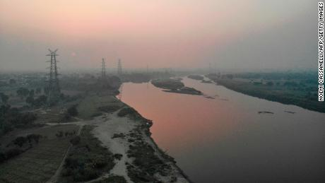 The Yamuna River on a soiled day in New Delhi on October 18 2019.