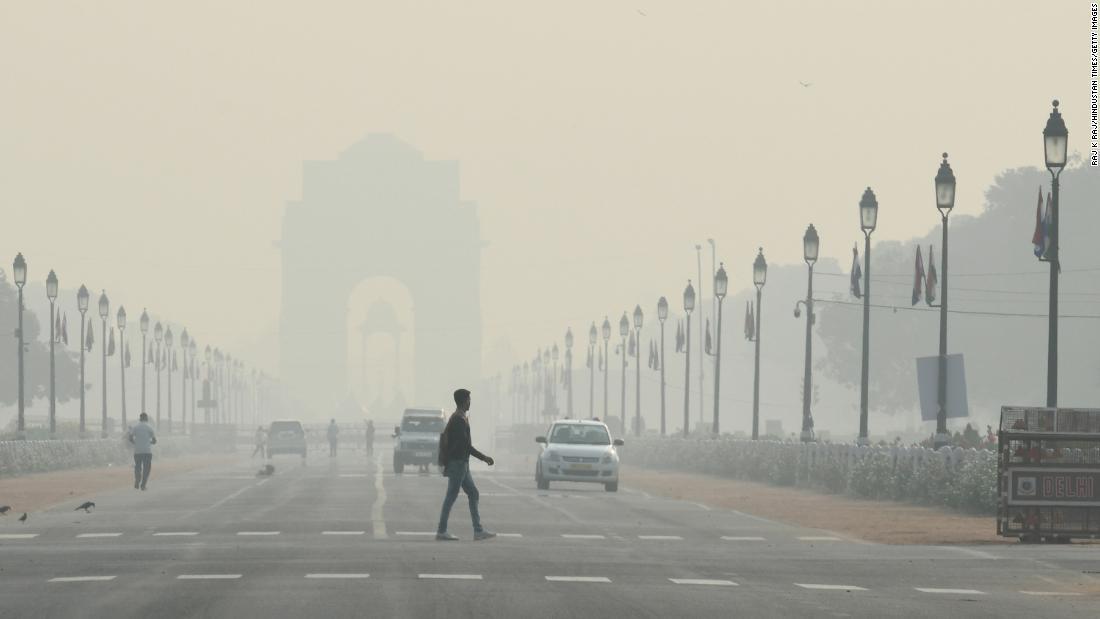 40.000 Menschen über einen marathon zu laufen, in dem weltweit am stärksten verschmutzten Stadt