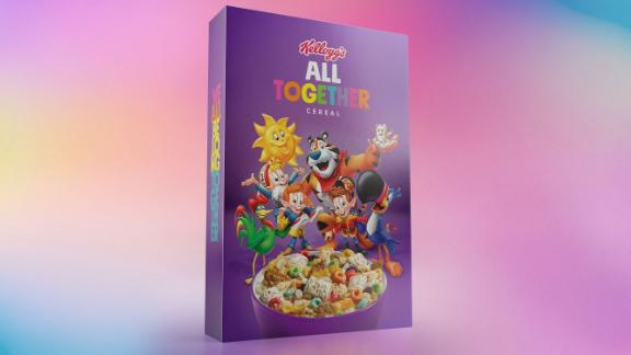 Kellogg's All Together cereal mixes popular cereals and their mascots.