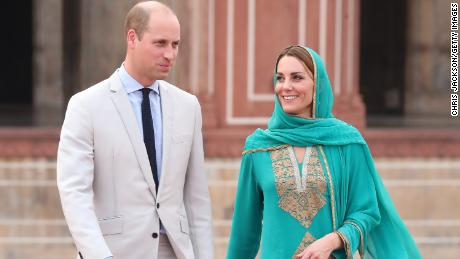 William and Kate tour Badshahi Mosque within the Walled City during day four of their royal tour of Pakistan.