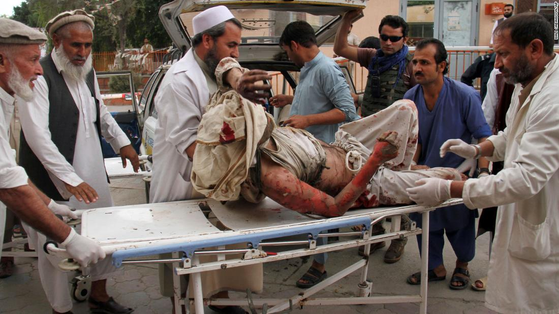 Dozens killed in mosque explosion in Afghanistan during Friday prayers