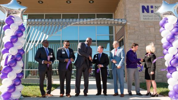 The Novant Health Michael Jordan Family Medical Clinic is funded by a $7 million gift from NBA legend Michael Jordan.