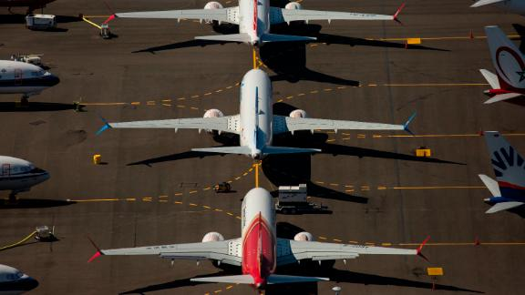 RENTON, WA - AUGUST 13: Boeing 737 MAX airplanes are seen parked on Boeing property near Boeing Field on August 13, 2019 in Seattle, Washington. (Photo by David Ryder/Getty Images)