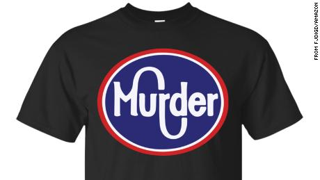 The T-shirt contains the logo of Murder Kroger.