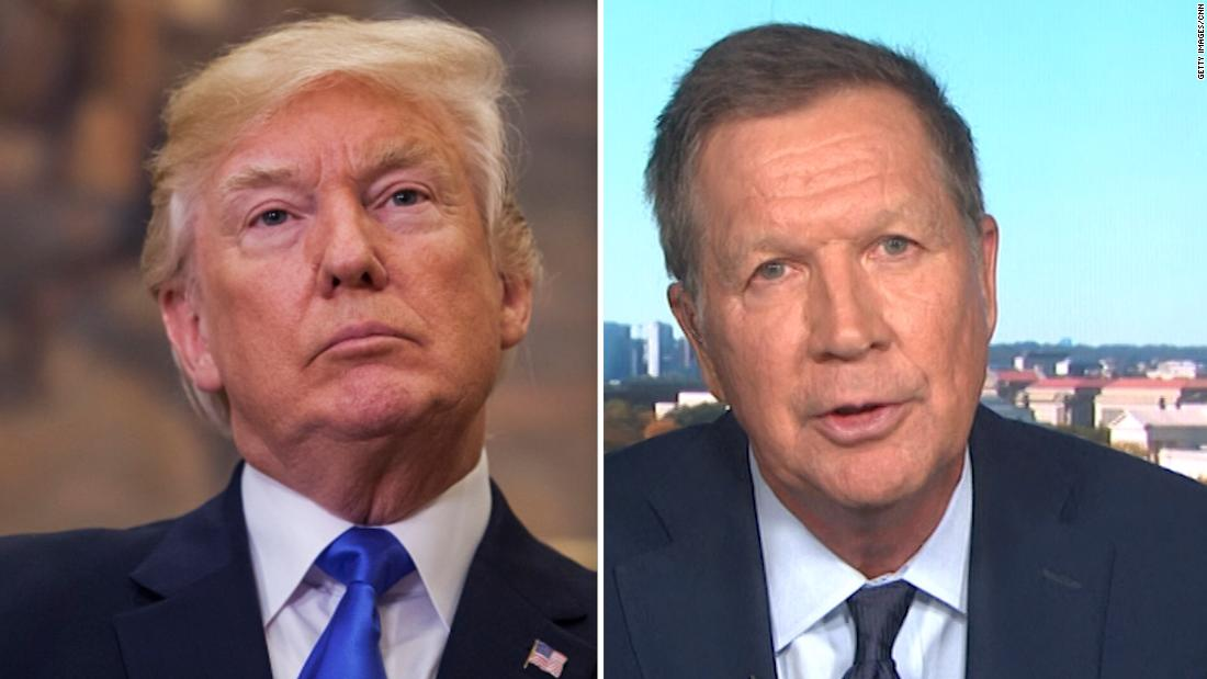 Current Status: Former Republican Ohio Gov. John Kasich says he's now for impeaching Trump
