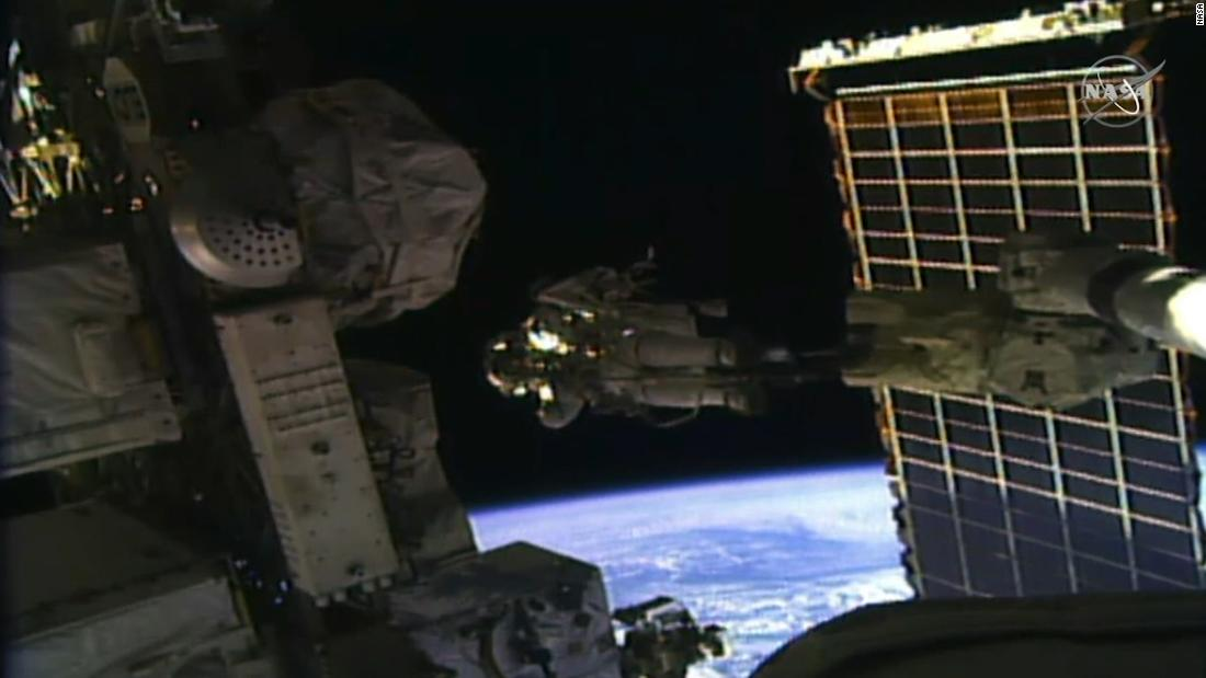 After an historic all-female spacewalk, astronaut has moon dream