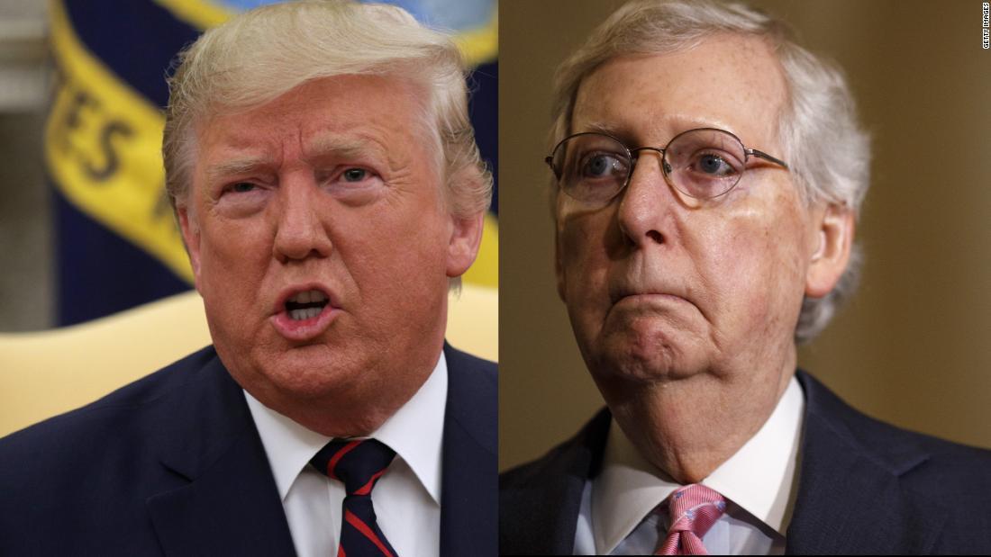 McConnell slams Trump ' s verschieben ... aber nicht mit seinem Namen