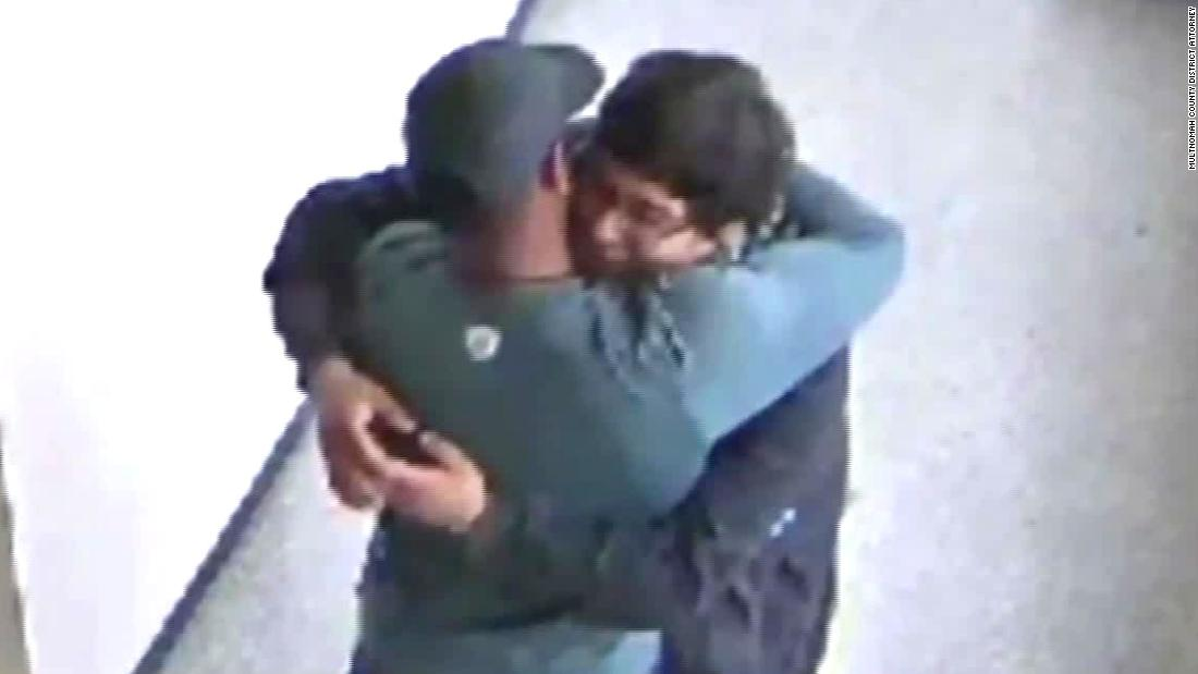 Video shows emotional moment after coach disarms student