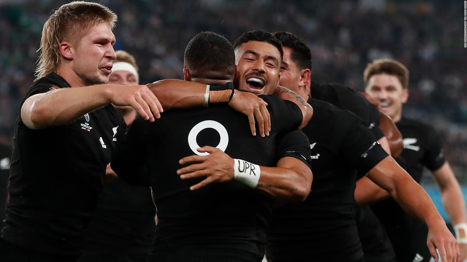 Rugby World Cup All Blacks Reach Semifinals With Seven Try Demolition Of Ireland Cnn