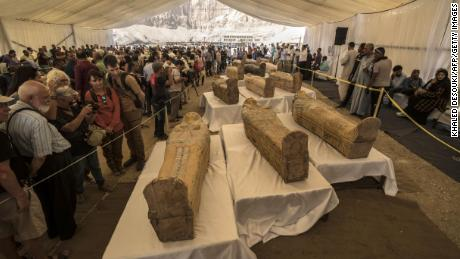 """Tourists see the newly discovered coffins on 1<div class=""""e3lan e3lan-in-post1""""><script async src=""""//pagead2.googlesyndication.com/pagead/js/adsbygoogle.js""""></script> <!-- Text_Display_Ad --> <ins class=""""adsbygoogle""""      style=""""display:block""""      data-ad-client=""""ca-pub-7542518979287585""""      data-ad-slot=""""2196042218""""      data-ad-format=""""auto""""></ins> <script> (adsbygoogle = window.adsbygoogle 