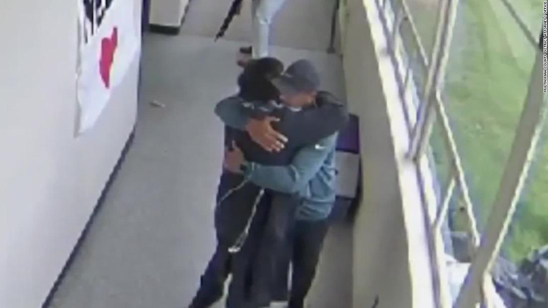Watch the emotional moment after coach disarms student carrying a shotgun