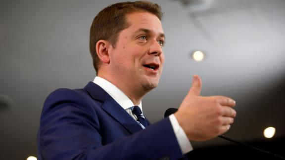 TORONTO, ON - OCTOBER 19: Leader of the Conservative Party of Canada Andrew Scheer speaks during a campaign stop on October 19, 2019 in Toronto, Canada. Scheer will be facing off against Prime Minister Justin Trudeau on Canada's election day held on October 21. (Photo by Cole Burston/Getty Images)