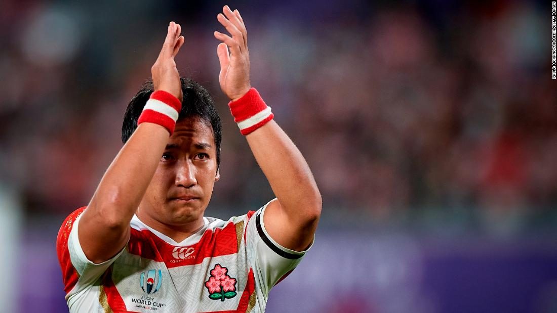 Yutaka Nagare looks dejected after Japan's defeat.
