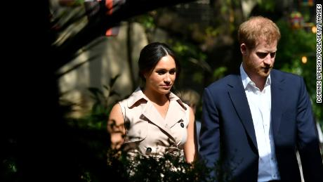 The Sussexes on day ten of their tour in Africa on October 2, 2019 in Johannesburg, South Africa.