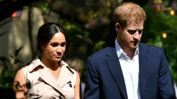 Prince Harry and Meghan in Johannesburg, South Africa during their royal tour.