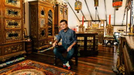 Alvin Yapp, collector and owner of The Intan, a Peranakan heritage home-museum in Singapore, 24 September 2019.