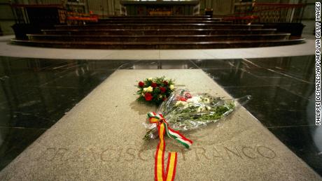 The tomb of Francisco Franco in The Valley of the Fallen, where he was buried after his death in 1975.