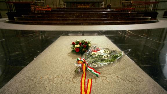 The tomb of Spain's General Francisco Franco in The Valley of the Fallen, where he was buried soon after his death in 1975.
