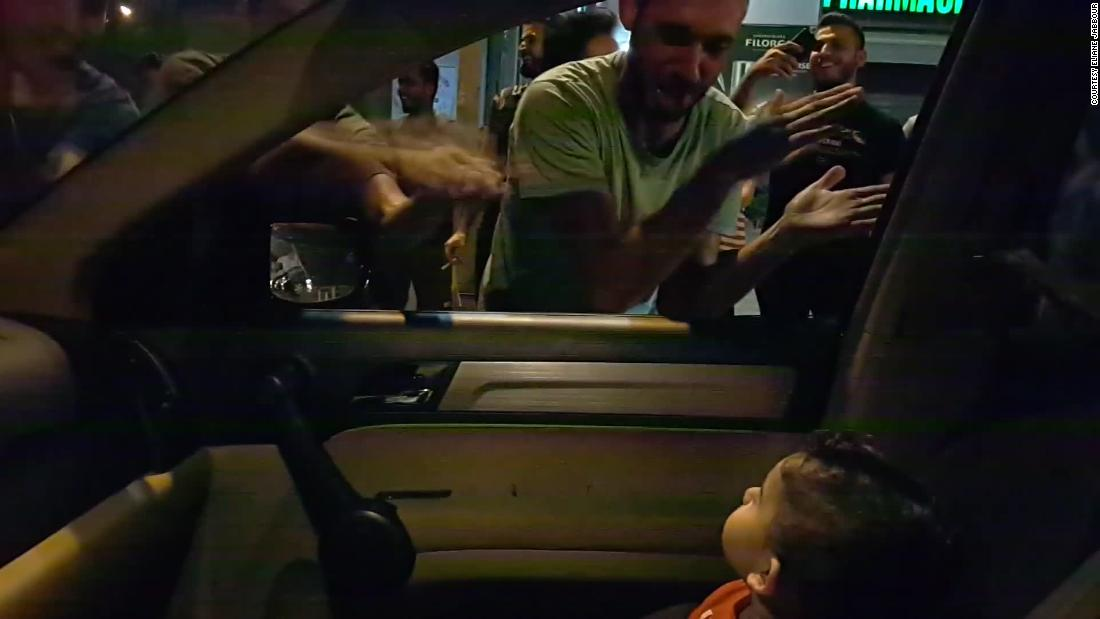 A Lebanese mother told protesters her baby was scared. So they sang 'Baby Shark'