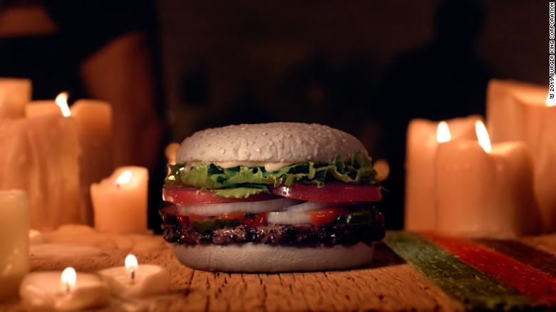 """Burger King's """"Ghost Whopper"""" comes with a special bun."""