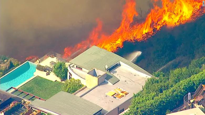 The Palisades Fire is threatening multimillion-dollar homes in Los Angeles.