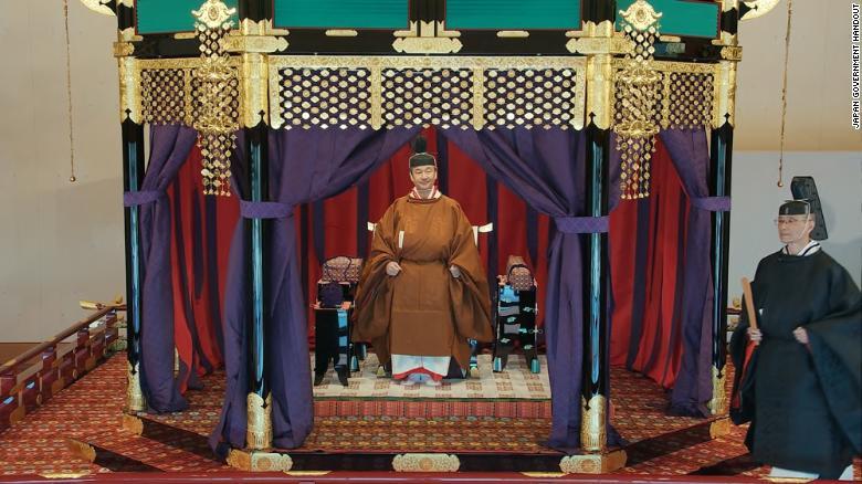 2019年10月22日の即位中のナルヒト皇帝