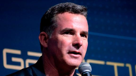 Under Armour CEO Kevin Plank speaks at an event to unveil the first commercial space wear in Yonkers, New York, on October 16, 2019. - At the event Virgin Galactic and Under Armour unveiled the worlds first exclusive spacewear system for private astronauts. (Photo by Don Emmert / AFP) (Photo by DON EMMERT/AFP via Getty Images)